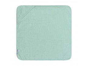 Mušelinová osuška Hooded Towel - mint