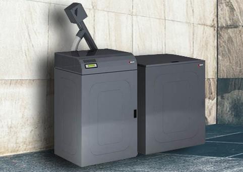 Referenční kotelna s automatickým kotlem na pelety Ungaro CTU PM box