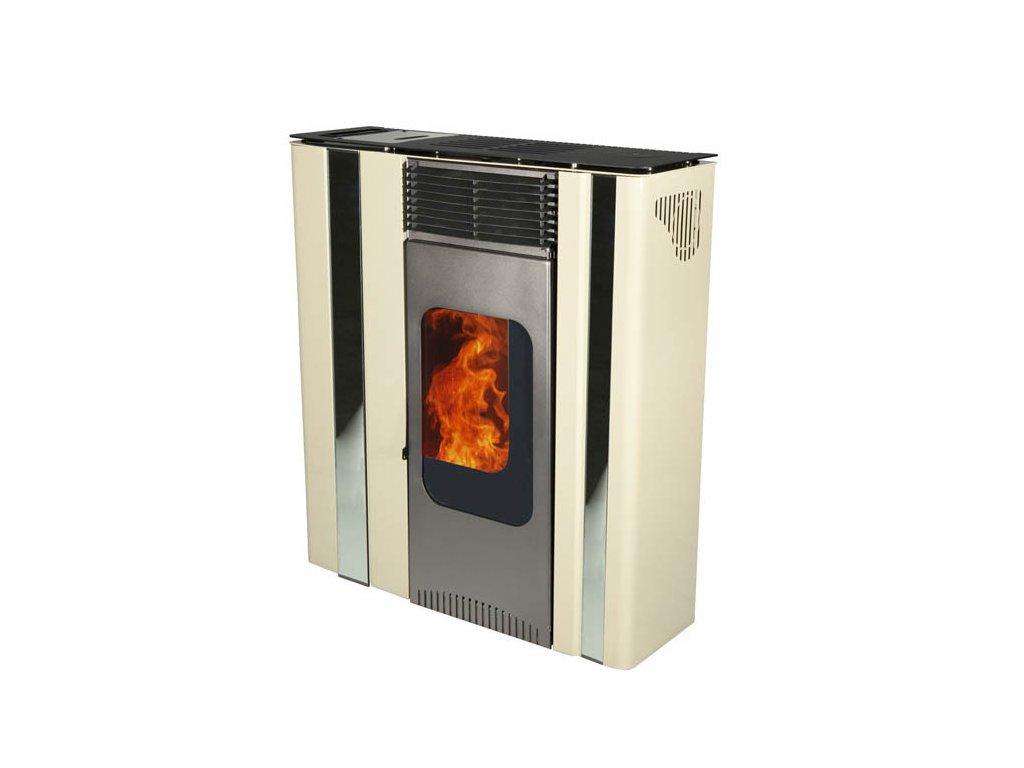 LINCAR OLGA 501 X Kamna na pelety s rozvodem horkého vzduchu - LETNÍ SLEVA 30%