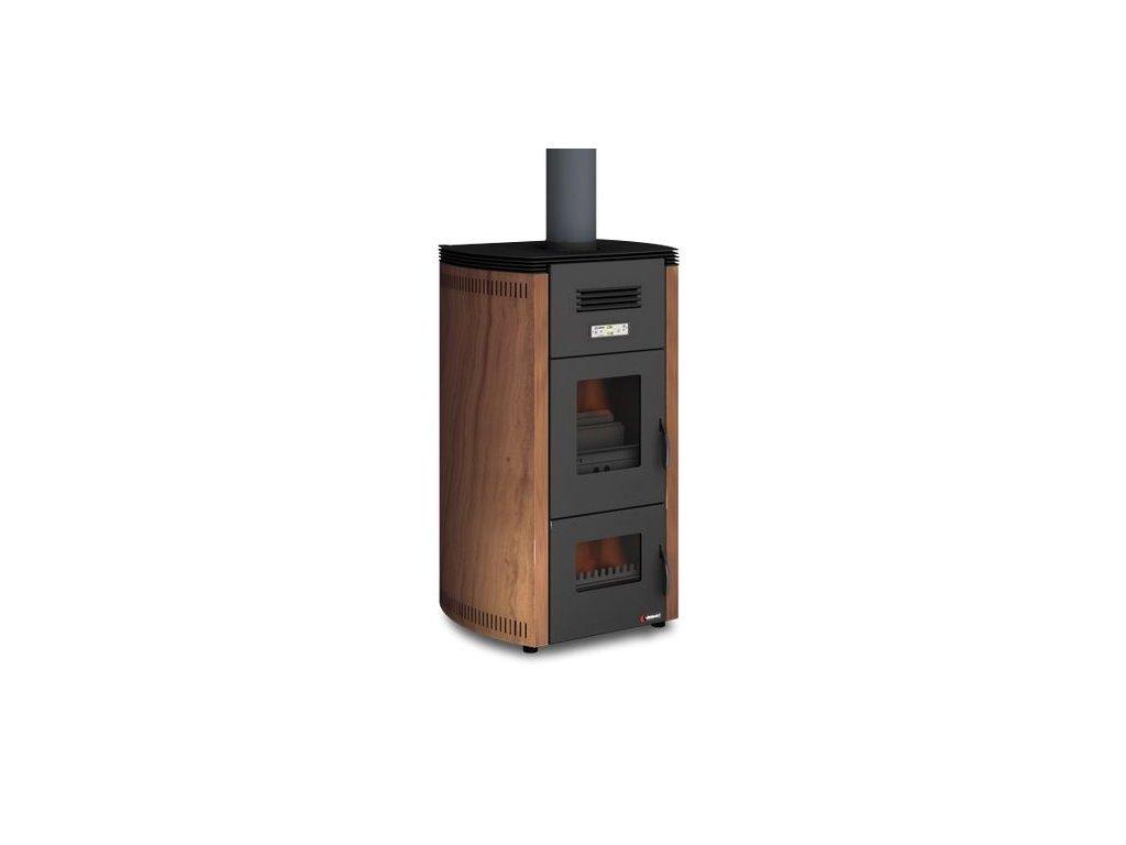 UNGARO 2 FIRE STYLE 24kW -  Krbová kamna na dřevo a pelety s teplovodním výměníkem
