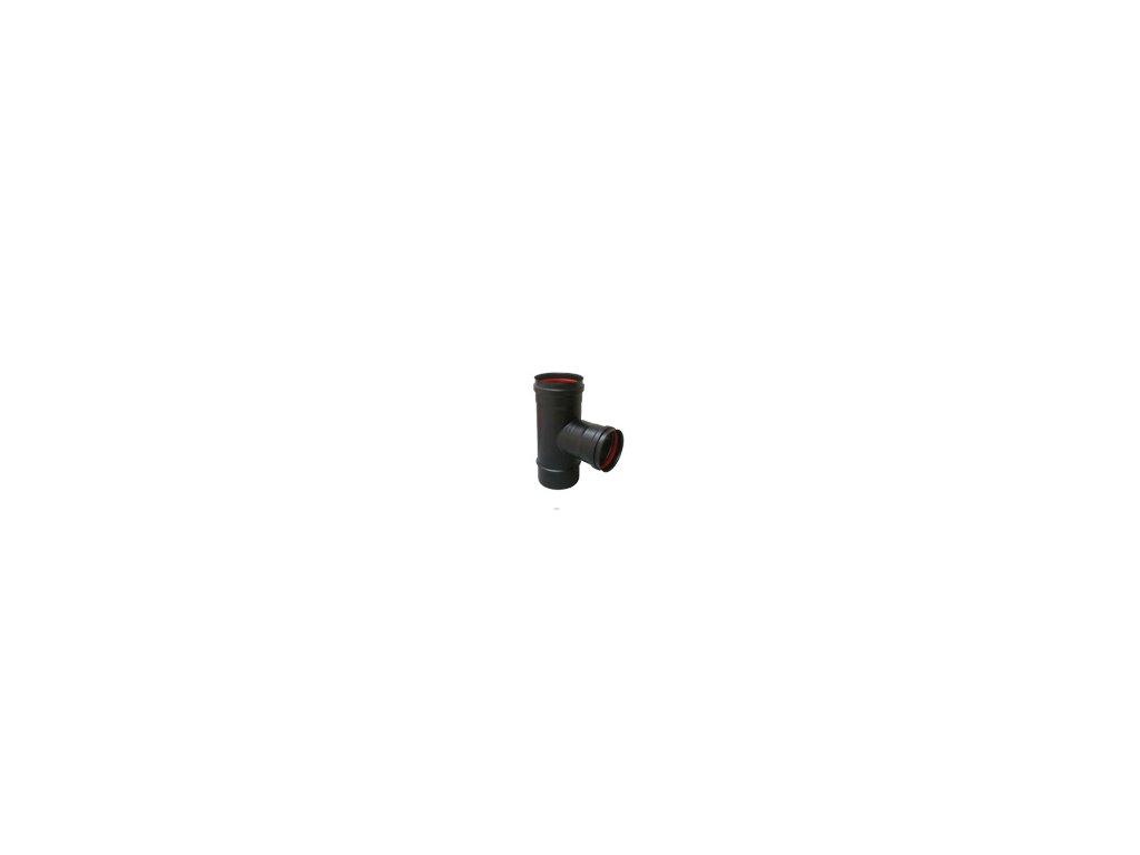 T-kus s těsněním 100/100 - kouřovod pro peletová kamna
