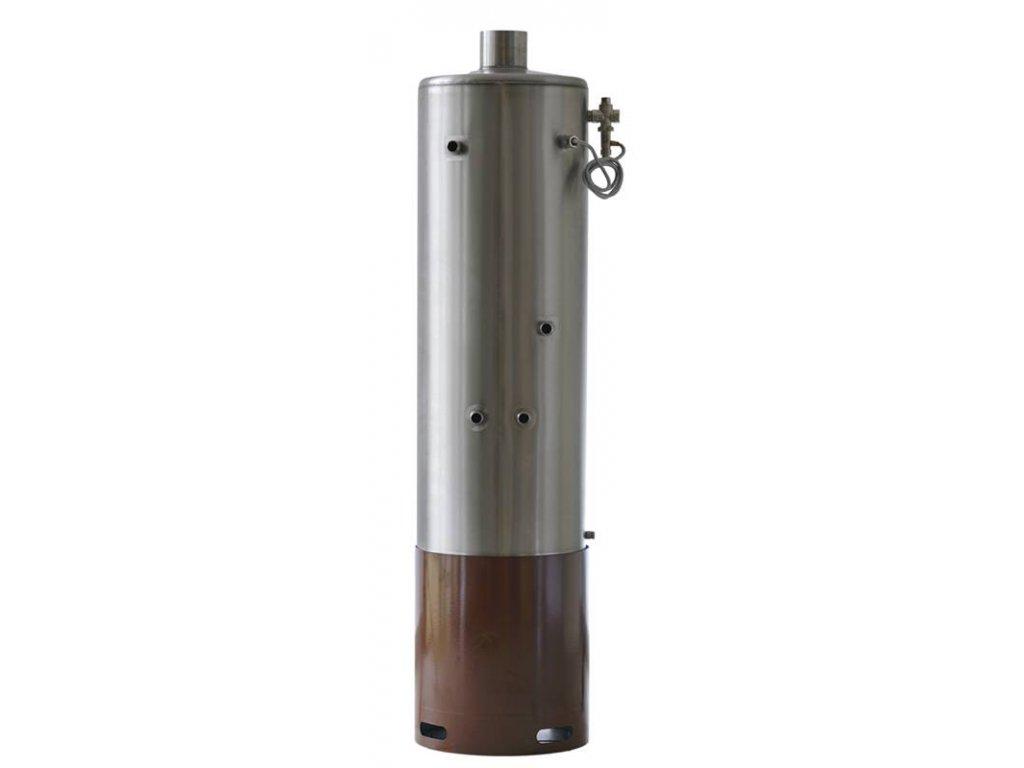 Lázeňská nerezová tlaková kamna Z100 s teplovodním výměníkem