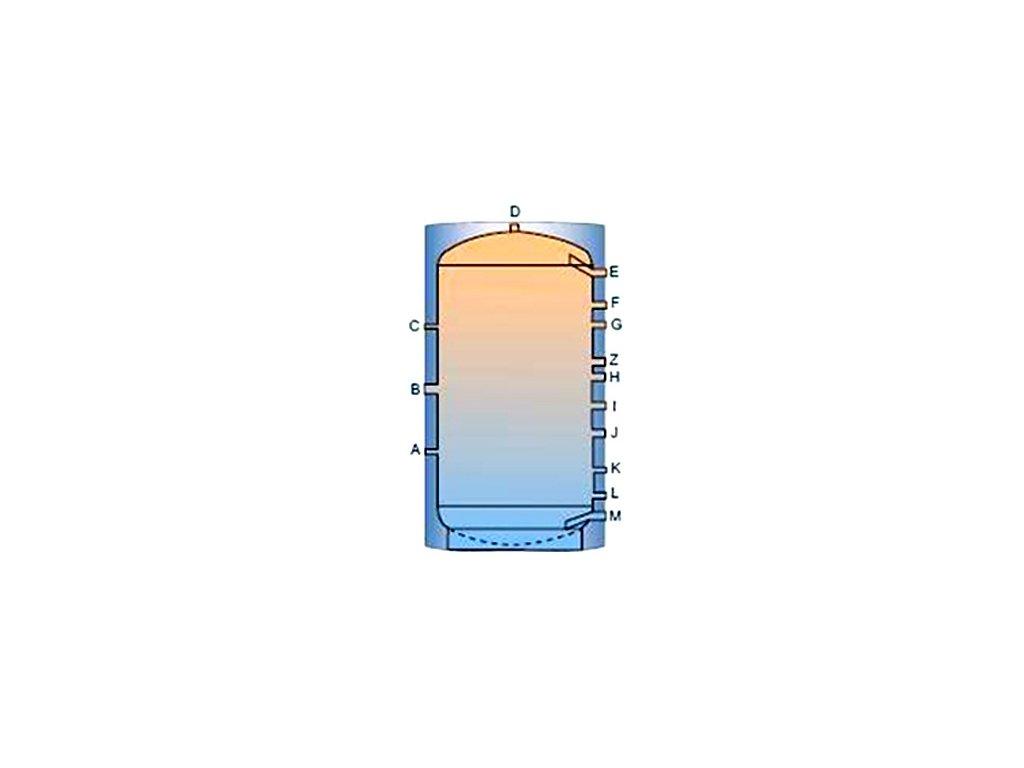 Akumulační nádrž TP bez výměníku - 800l, s PU měkkou izolací