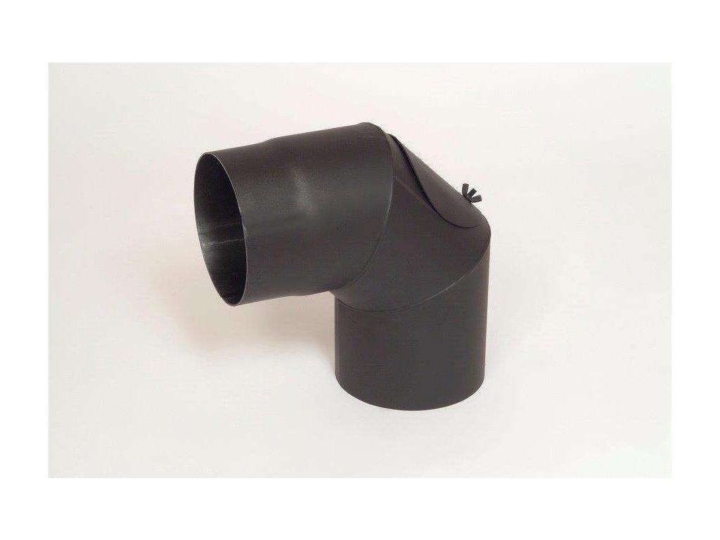 MORAFIS kouřovod - koleno s čistícím otvorem Ø120mm/90°
