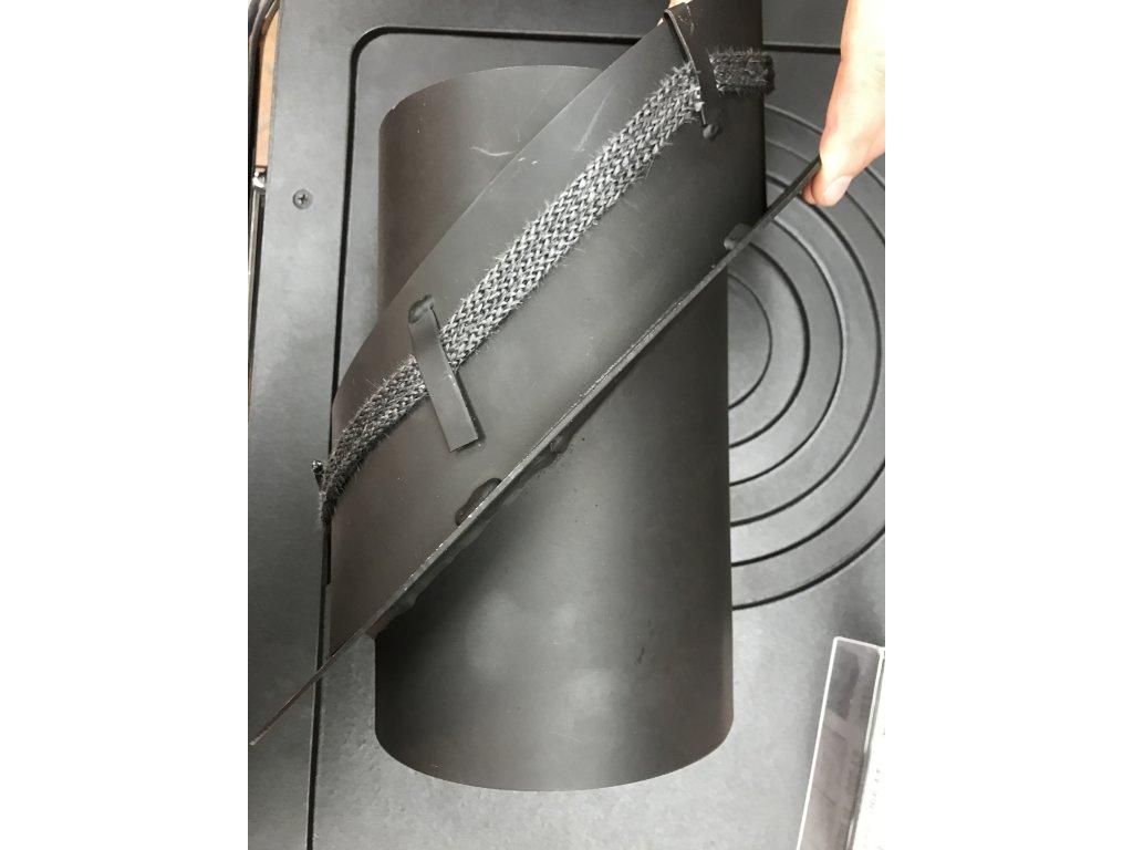 MORAFIS kouřovod - redukce do keramického komínu s kroužkem Ø200/150mm/45°