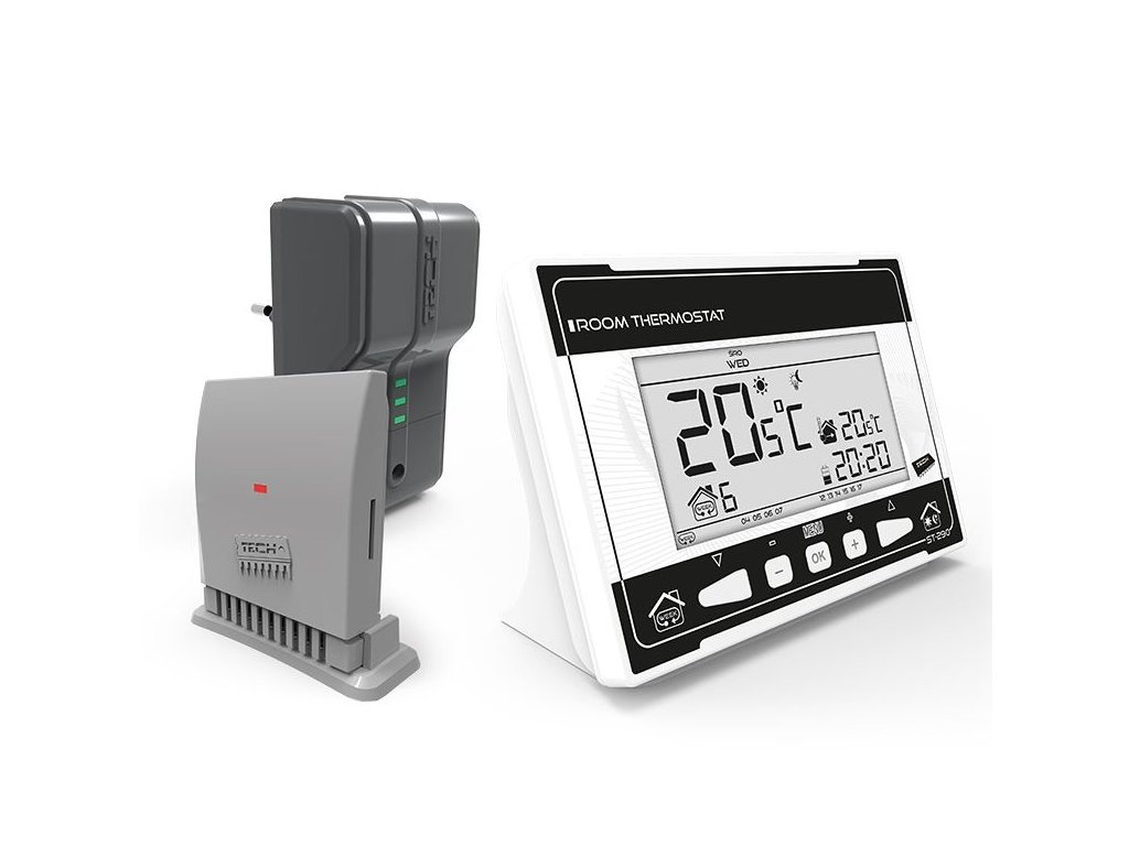 TECH CS-290 v2 - pokojový termostat dvoupolohový, bezdrátový