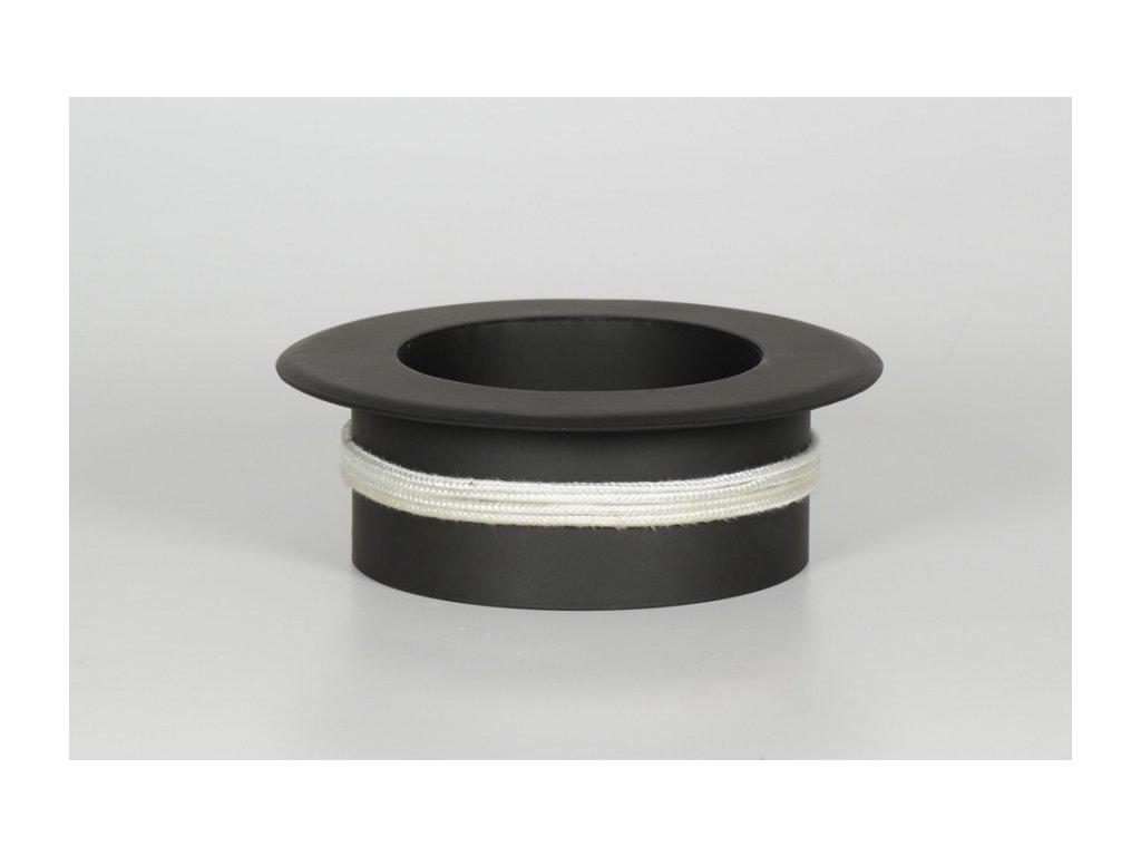 MORAFIS kouřovod - redukce do keramických komínů Ø150/150 mm s kroužkem
