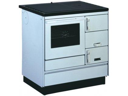 KVS Moravia VSP 9103.1102-OP bílá, plastové doplňky, ocelová plotna dělená stříkaná - sporák na tuhá paliva