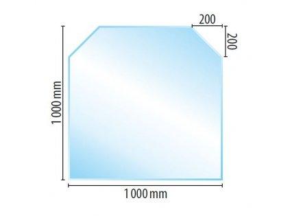 Sklo pod kamna C3, brus 10 mm