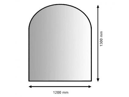 Bari nerezový plech pod kamna 1200 x 1300 mm