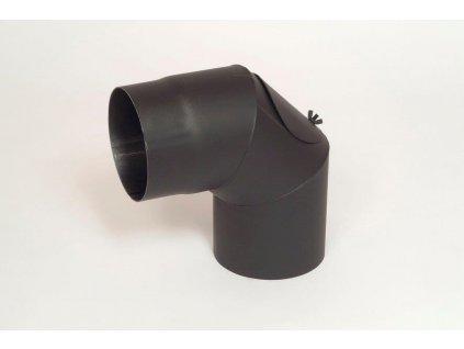 Kouřovod - koleno - pevné s čistícím otvorem pr. 120 (90°)