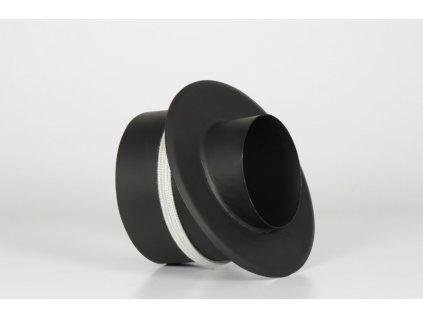 Kouřovod redukce do keramického komínu s kroužkem 180/150/45°