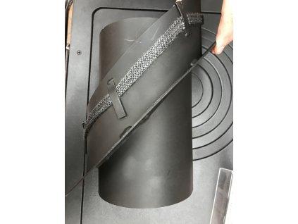 Kouřovod redukce do keramického komínu s kroužkem 200/150/45°