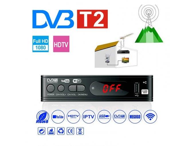 Set-top box DVB-T2 s WIFI