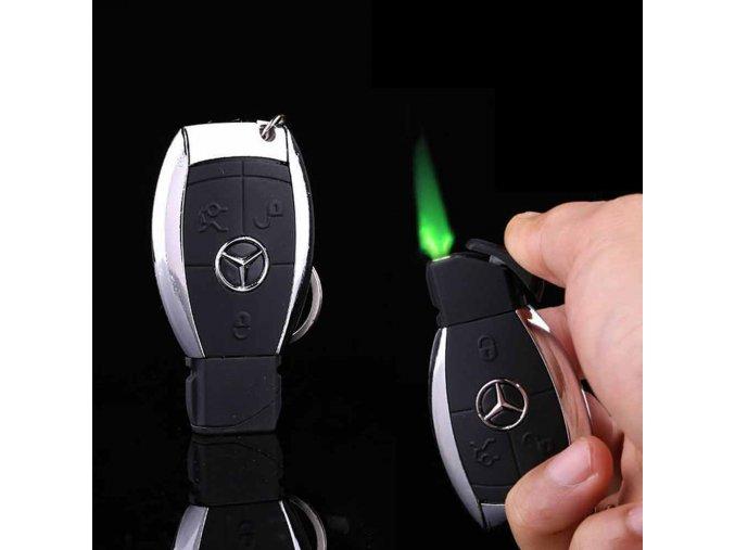 Mercedes zapalovač ve tvaru klíče se světlem