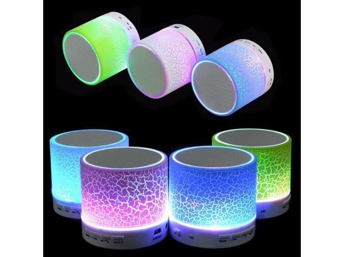 Mini Bluetooth reproduktor s LED osvětlením pro telefon,USB a SD karty