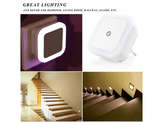 LED noční osvětlení se světelným senzorem