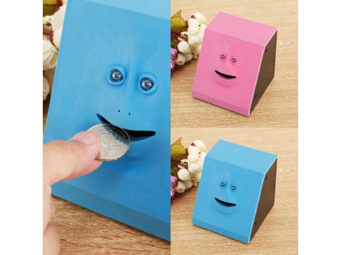 Pokladička žvýkací tváře