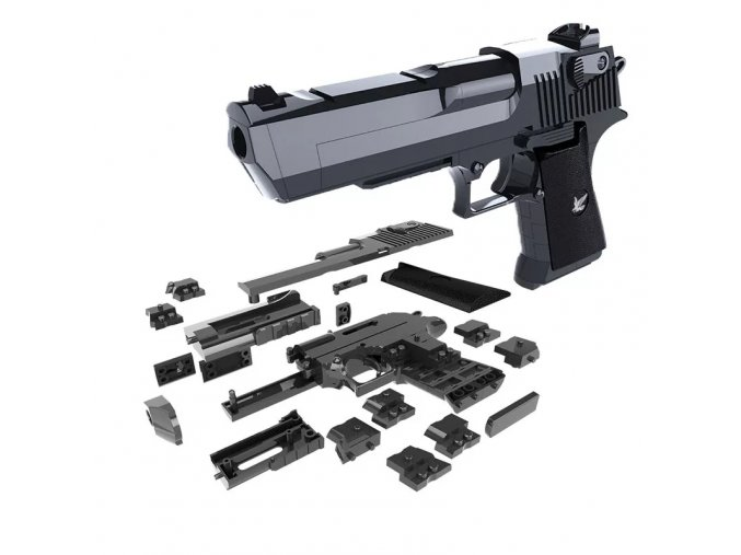 3D skládačka funkční kuličkové pistole