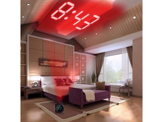 LED projektorový budík