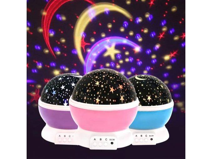 LED noční projektor nebe