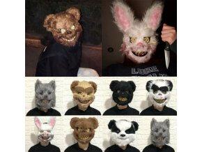 Halloweenská maska zvíře