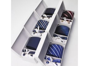 Luxusní dárková sada kravaty,manžetových knoflíčků a kapesníku