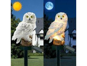 LED solární světlo sova