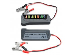 Tester autobaterie a alternátoru 12V