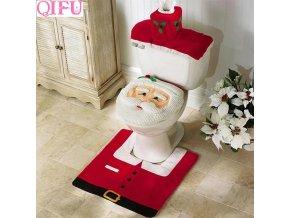 Vánoční potah WC