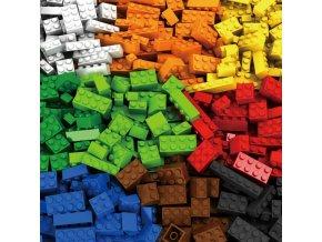 Stavebnice kostky 1000 kusů