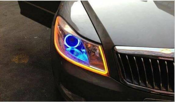LED DRL denni sviceni s funkci blinkru 60cm - Poštovné zdarma