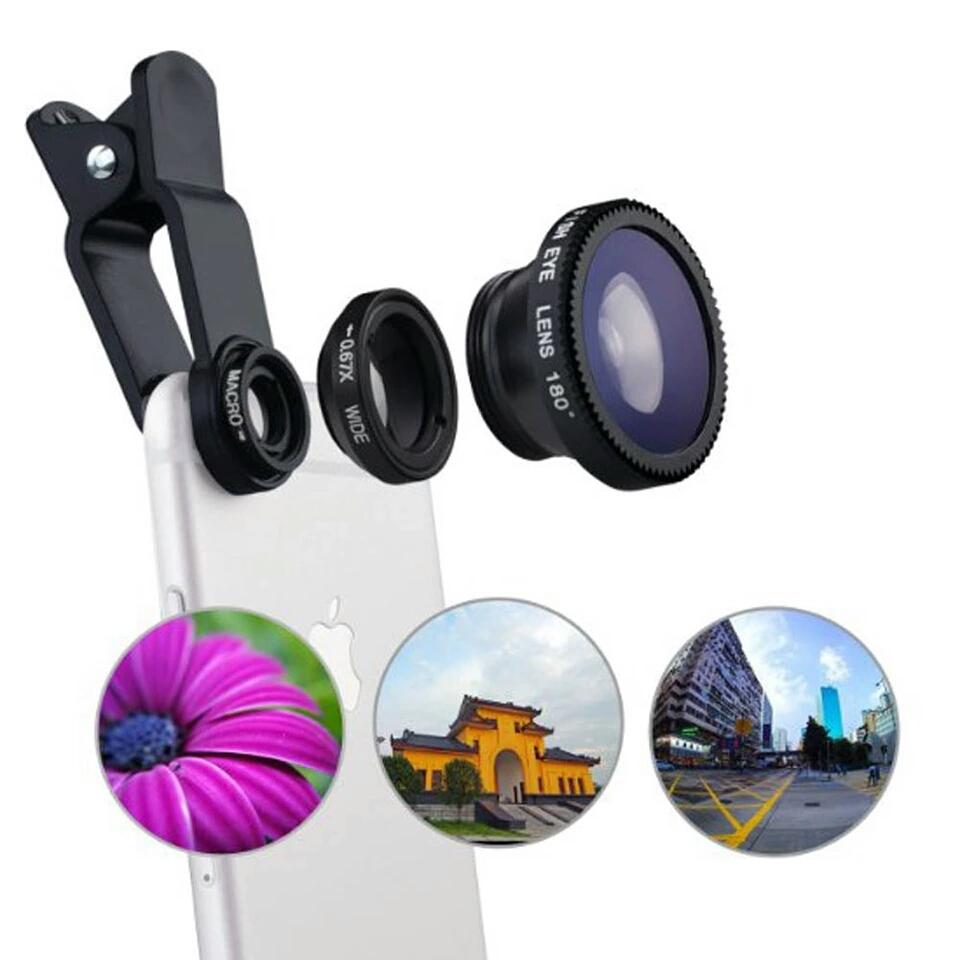 Univerzalni přídavné objektivy 3v1 na mobilni telefony - Poštovné zdarma
