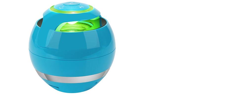 Přenosný bezdrátový mini Bluetooth reproduktor Super bass, Zvuková skříňka s mikrofonem na SD karty, FM rádio, LED světlo - Poštovné zdarma Barva: Modrá