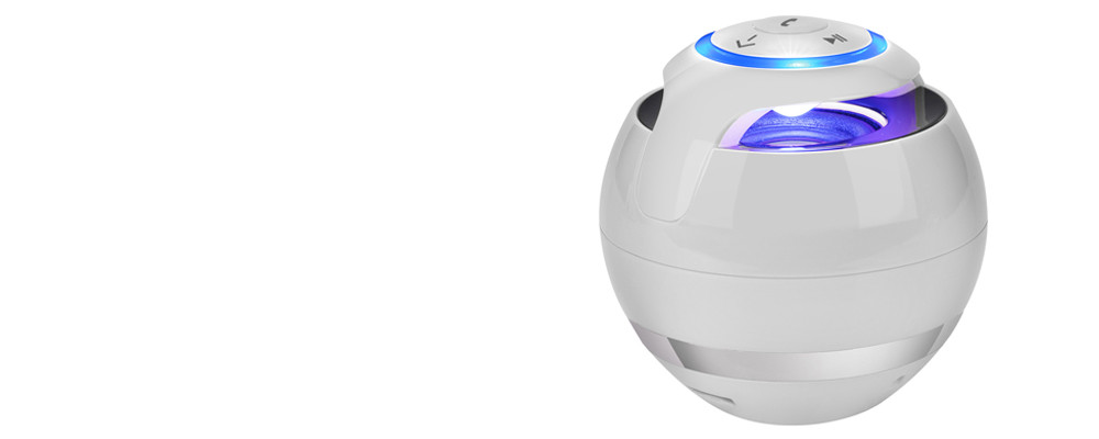 Přenosný bezdrátový mini Bluetooth reproduktor Super bass, Zvuková skříňka s mikrofonem na SD karty, FM rádio, LED světlo - Poštovné zdarma Barva: Bílá