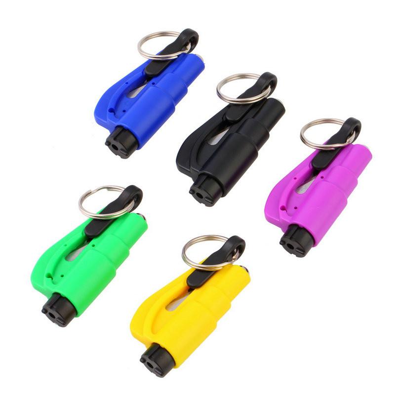 MINI bezpečnostní kladivo a nůž bezpečnostního pásu,klíčenka - Poštovné zdarma