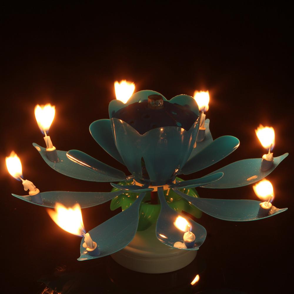 Eletrické hudební svíčky pro narozeninový dort - Poštovné zdarma Barva: Modrá