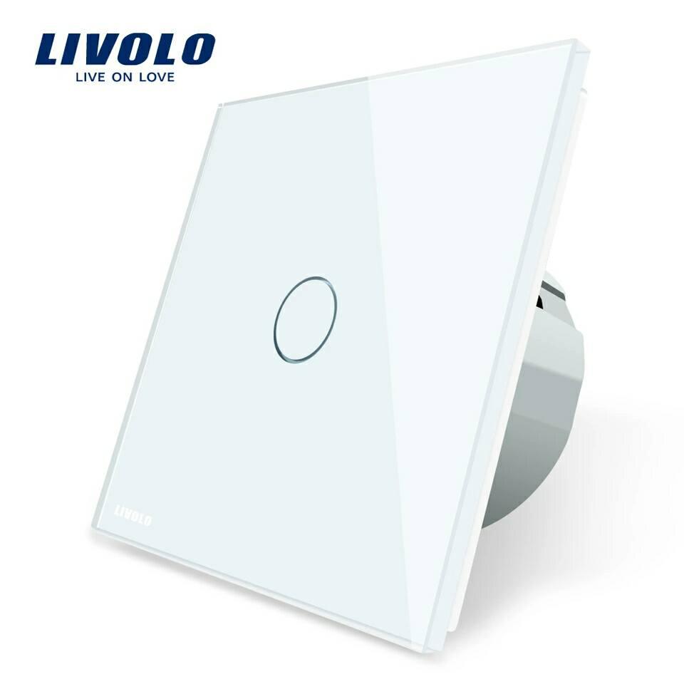Luxusní dotykový vypínač z křišťálového skla - Poštovné zdarma Barva: Bílá