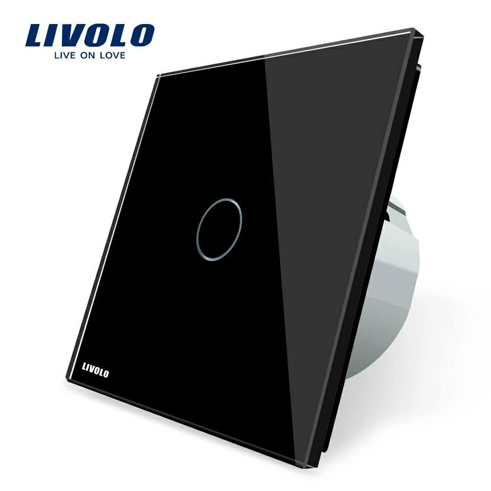 Luxusní dotykový vypínač z křišťálového skla - Poštovné zdarma Barva: Černá