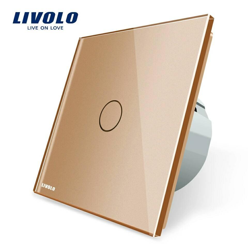 Luxusní dotykový vypínač z křišťálového skla - Poštovné zdarma Barva: Zlatá
