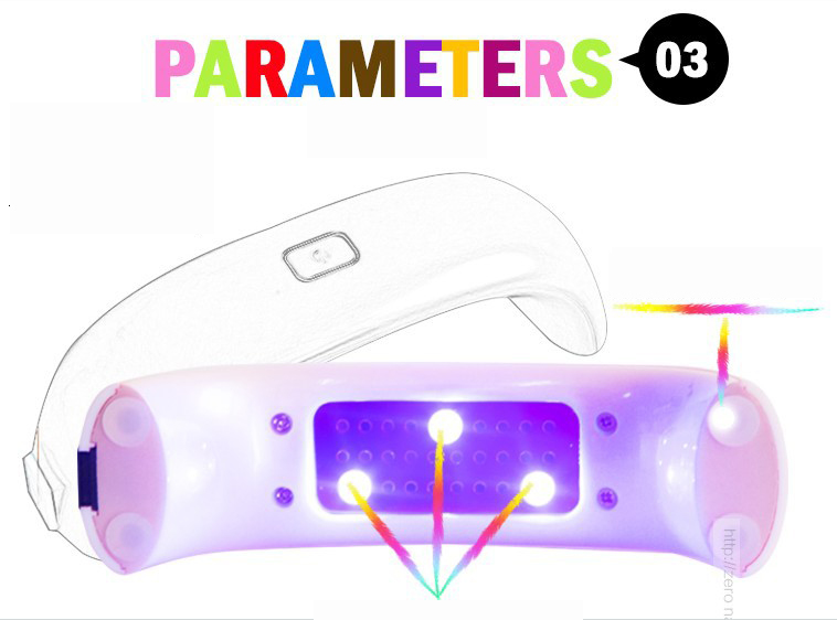 UV lampa na gelové nehty - Poštovné zdarma Barva: Bílá