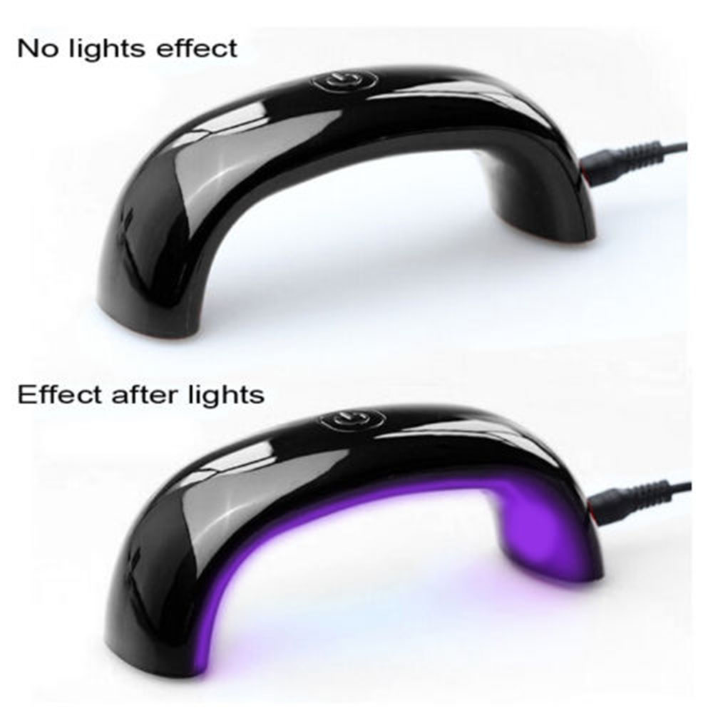 UV lampa na gelové nehty - Poštovné zdarma Barva: Černá