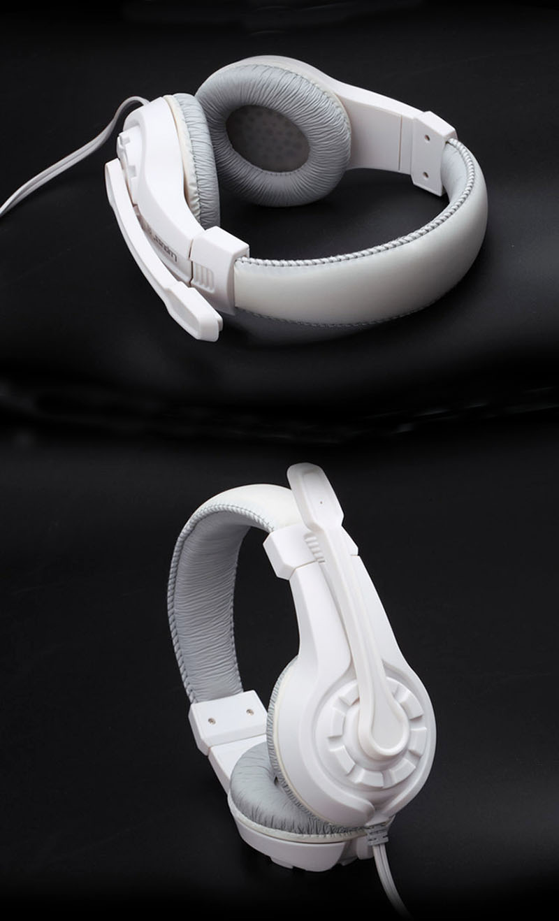 Herní sluchátka s mikrofonem - Poštovné zdarma Barva: Bílé