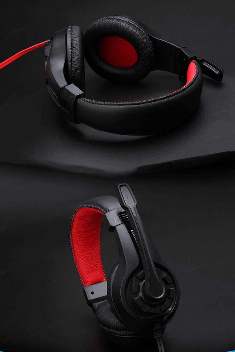 Herní sluchátka s mikrofonem - Poštovné zdarma Barva: Černé