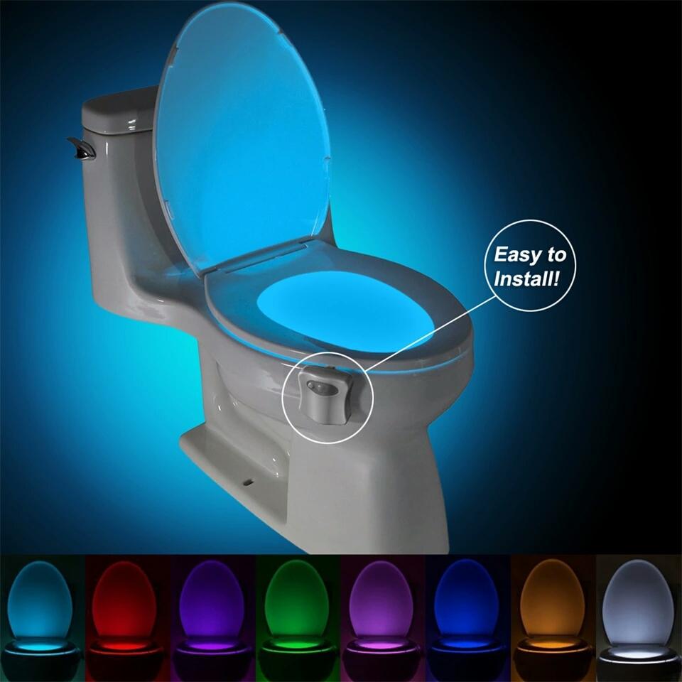 Led světlo na toaletu 8 barev s pohybovým čidlem - Poštovné zdarma