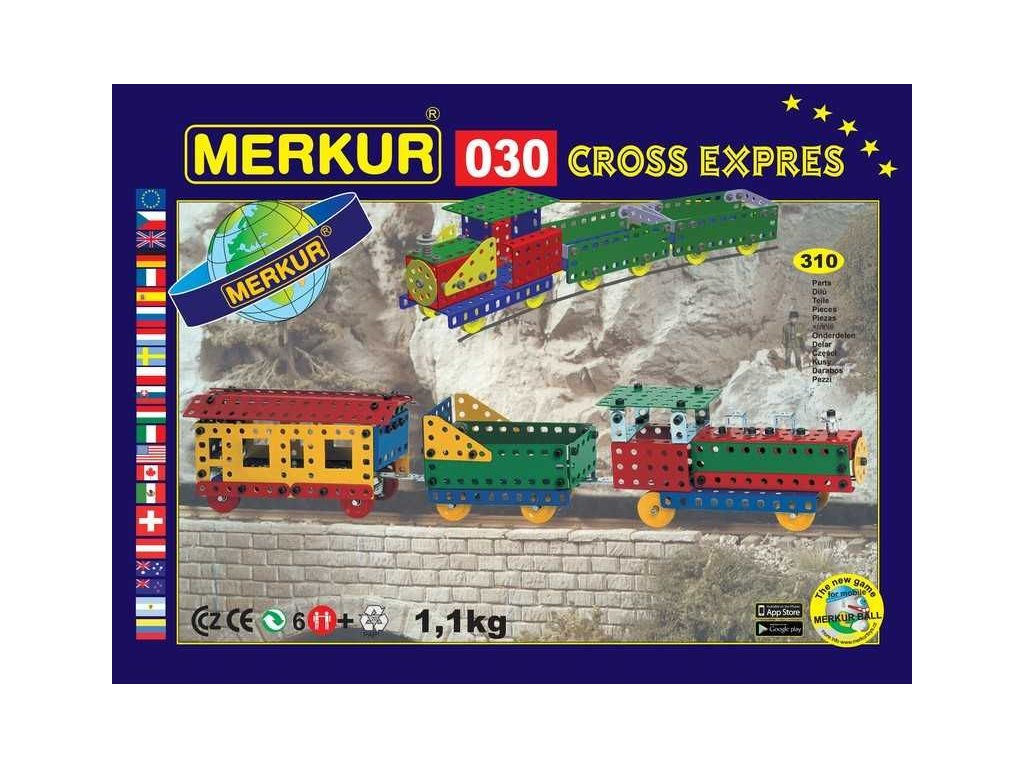 Merkur 030 CROSS expres - 310 dílů