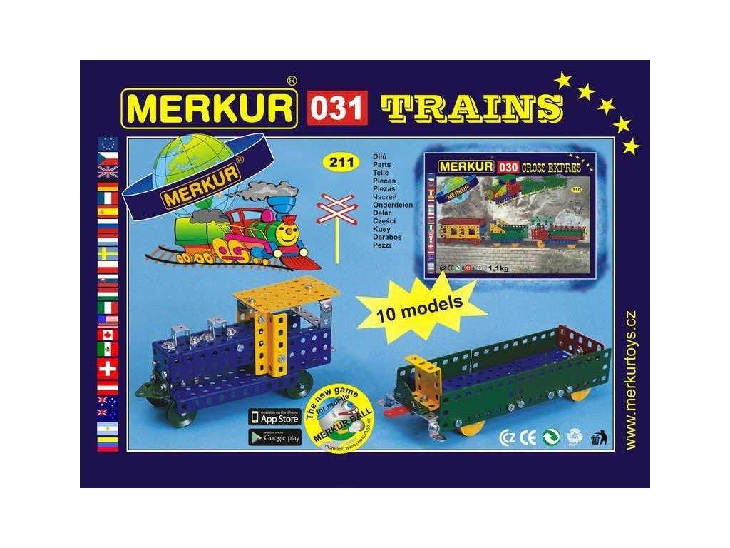 Merkur 031 Železniční modely - 211 dílů