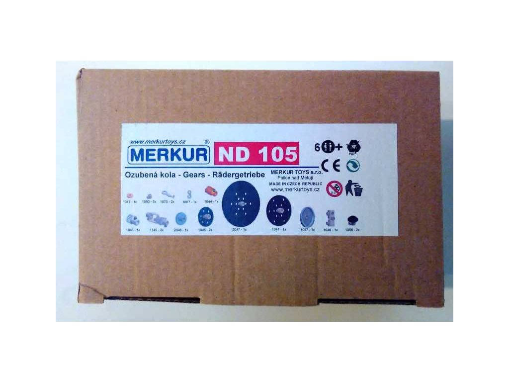 Merkur náhradní díly ND 105 - ozubená kola (modul 0,5)