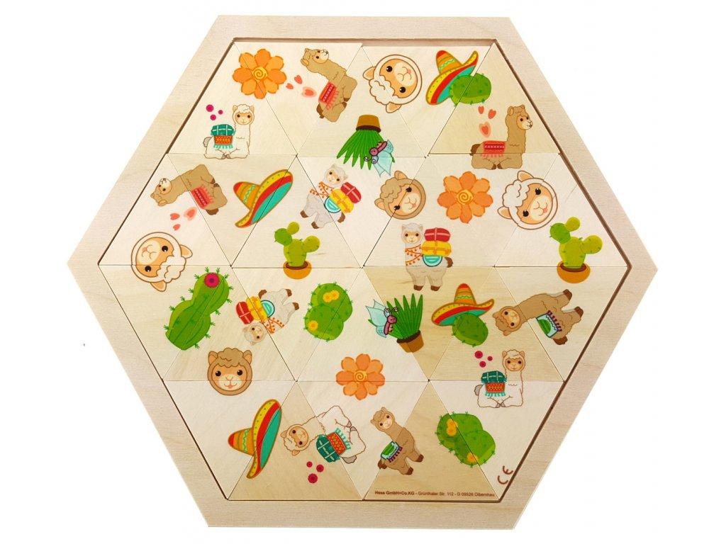 Hess Puzzle mozaika Lama 24 dílků