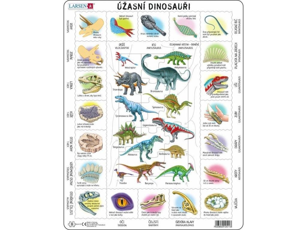 Puzzle Fascinující svět dinosaurů 35 dílků